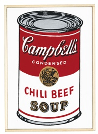 andy warhol, campbell's soup can, chili beef by richard pettibone