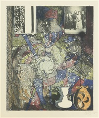 untitled (for the american center); and ocen; 2 works) by jasper johns