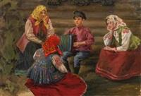 the accordion player by ivan semionovich kulikov