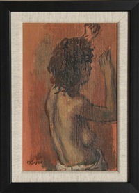 profile of a nude woman by moses soyer