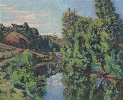 vue du pont charraud creuse by armand guillaumin