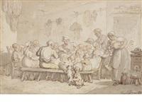 feeding time by thomas rowlandson