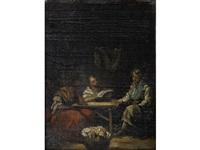 figures in an interior by eugenio lucas villamil