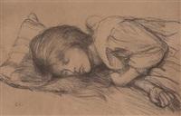 sleeping girl by sir george clausen