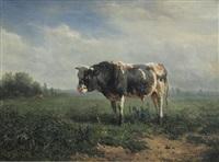 stehender stier by johannes hubertus leonardus de haas