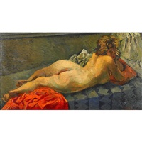 a nude woman by moses soyer