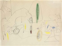 untitled (composition) by arshile gorky