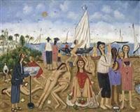 la plage à nice by oscar arcila