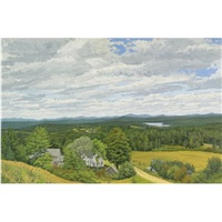 the bennett place with lake quantabakook by rackstraw downes