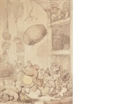a street accident by thomas rowlandson