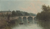 a view of richmond from the river by m. allan