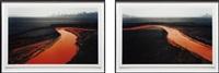 nickel tailings #34 and #35, sudbury, ontario (diptych) by edward burtynsky