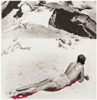 hegel's cellar: two figures (one with shadow) by john baldessari