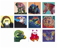 endangered species (set of 10) by andy warhol