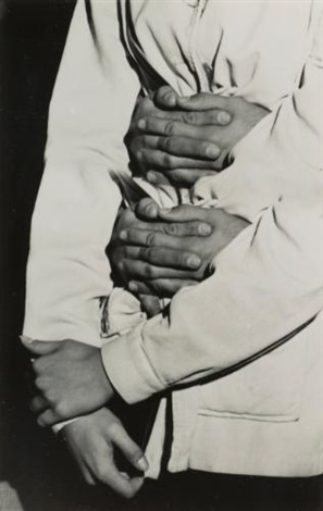 hands multiple exposure by weegee