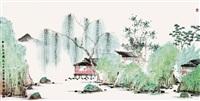 柳荫幽居图 by shao lian