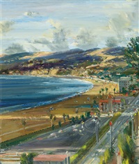 view of santa monica coast by larry cohen