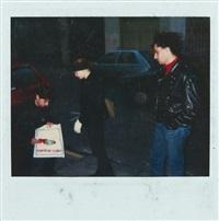 kelle inman and louis jammes at yvon lambert gallery by jean-michel basquiat