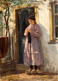 schevenings meisje by philip lodewijk jacob frederik sadée