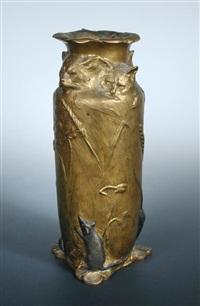 sculptural vase by leopold pierre antoine savine