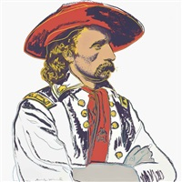 general custer, from cowboys and indians by andy warhol