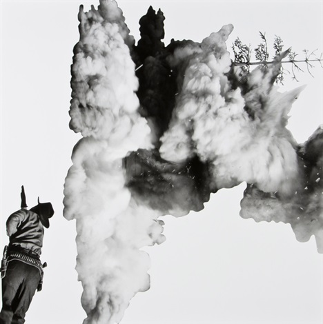 smoke tree shadow and person by john baldessari