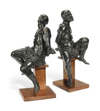 models of slaves (pair) by pietro tacca