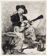 le guitarero (ou le chanteur espagnol) (from l'artiste) by édouard manet