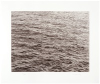 untitled (ocean with cross #1) by vija celmins
