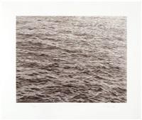 untitled (ocean with cross #1) by vija celmins