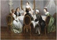 dîner galant by léonard saurfelt