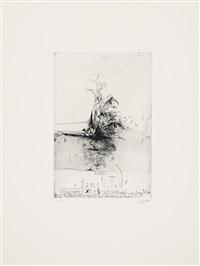 hanno's tod (portfolio of 23) by horst janssen