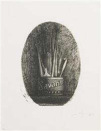 savarin 4 (oval) (ulae 194) by jasper johns