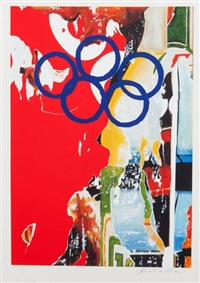 composition pour les jo by mimmo rotella