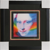 mona lisa face by peter max