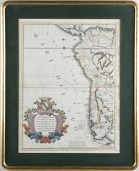 map of western south america (from americae medionale) by vincenzo maria coronelli