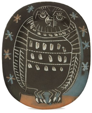 mat owl platter by pablo picasso