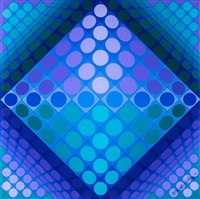 chessplay by victor vasarely