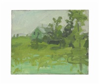 landscape with house by alex katz