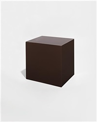 untitled (brown block) by john mccracken