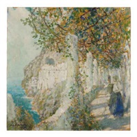 old cloister walk, amalfi by george wharton edwards
