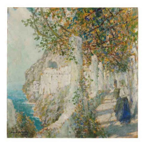 old cloister walk amalfi by george wharton edwards