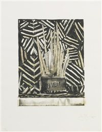 savarin 5 (corpse and mirror) (ulae 195) by jasper johns