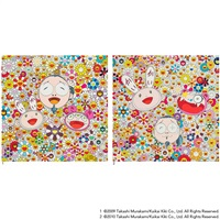 1.me and kaikai and kiki 2. kaikai kiki and me - for better or worse, in good times and bad. the weather is fine (2 works) by takashi murakami