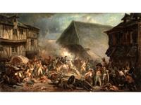 napoleon zieht nach der schlacht durch die stadt by malerie marder