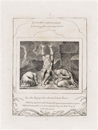 let the day perish wherein i was born (from illustrations of the book of job) by william blake