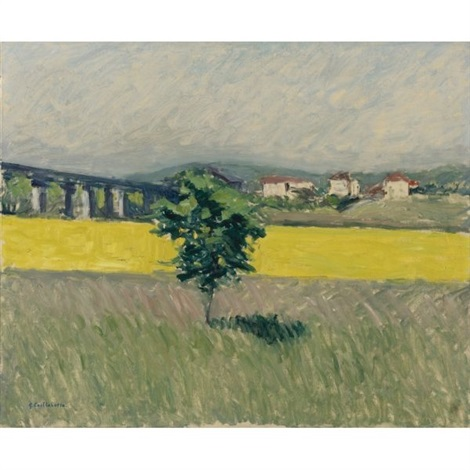 prairie au pont dargenteuil by gustave caillebotte