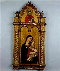 madonna and child with saint by simone martini