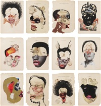 histology of the different classes of uterine tumors, (in 12 parts) by wangechi mutu