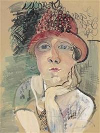 portrait de madame raoul dufy by raoul dufy